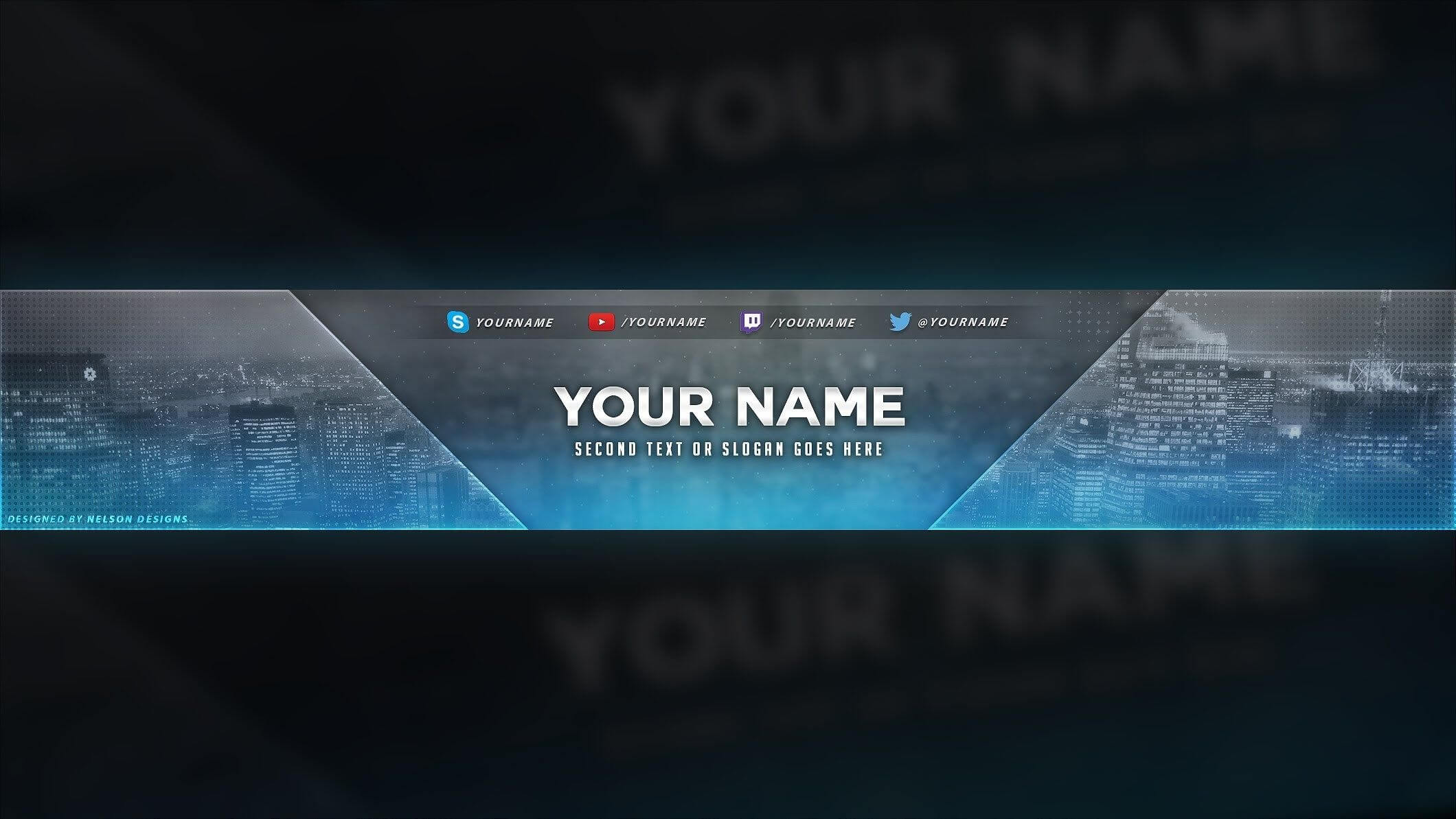 4 Free Youtube Banner Psd Template Designs - Social Media Pertaining To Yt Banner Template
