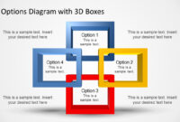 4 Options Diagram Template For Powerpoint With 3D Boxes for What Is A Template In Powerpoint