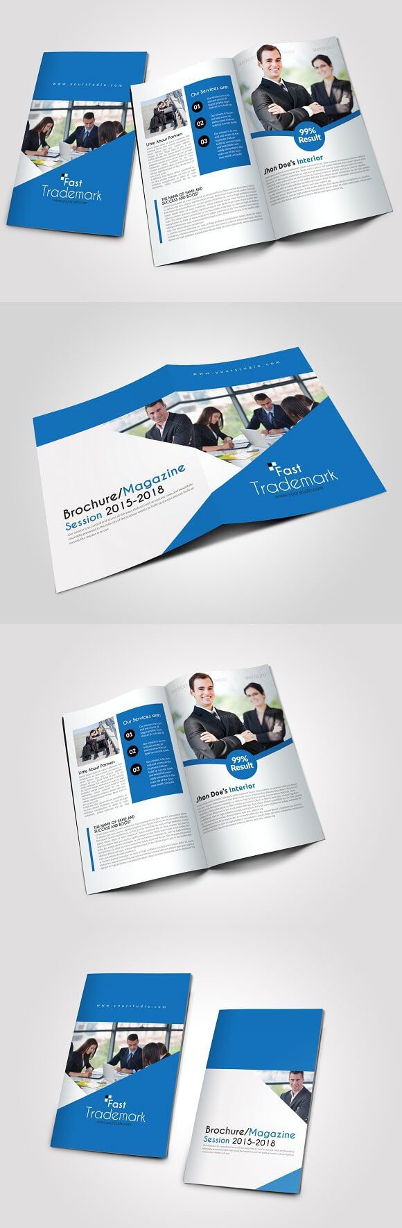 4 Pages Business Bi Fold Brochure . Creative Business Card regarding Pages Business Card Template