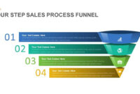 4 Step Sales Funnel Powerpoint Template And Keynote Slide throughout Sales Funnel Report Template