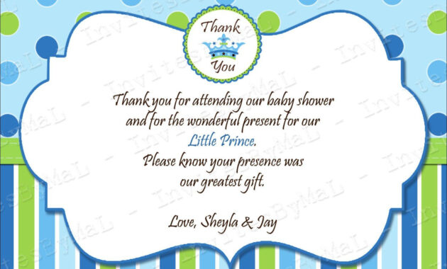 40 Beautiful Baby Shower Thank You Cards Ideas | Baby | Baby pertaining to Template For Baby Shower Thank You Cards
