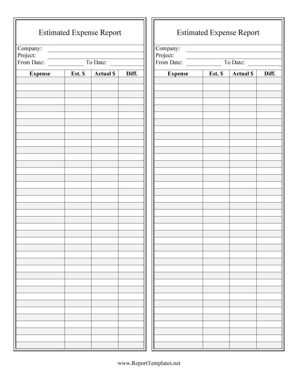 40+ Expense Report Templates To Help You Save Money ᐅ Intended For Company Expense Report Template