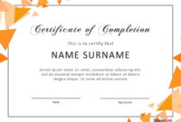 40 Fantastic Certificate Of Completion Templates [Word in Certificate Of Participation In Workshop Template