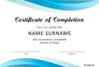 40 Fantastic Certificate Of Completion Templates [Word Regarding Certification Of Completion Template