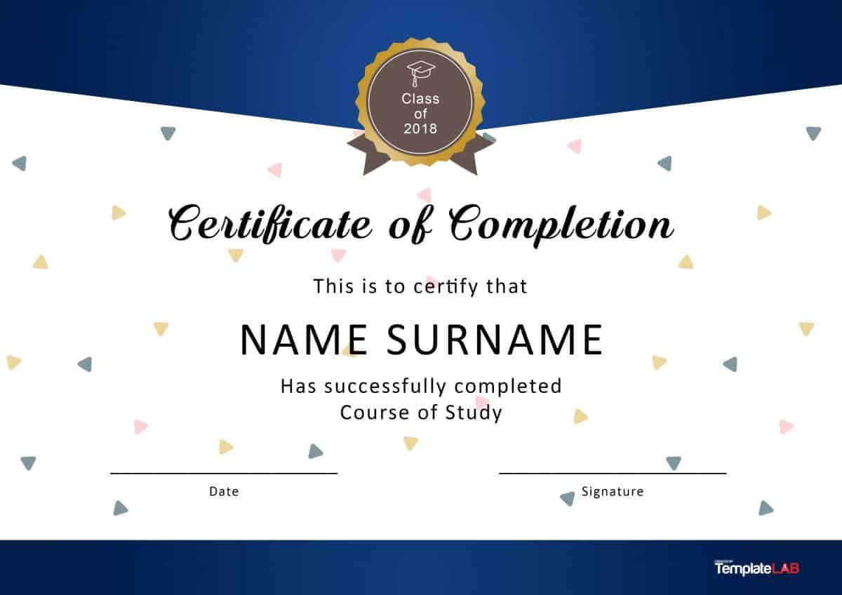 40 Fantastic Certificate Of Completion Templates [Word Regarding Graduation Certificate Template Word