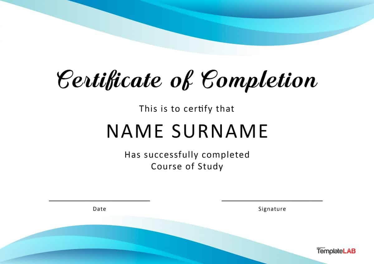 40 Fantastic Certificate Of Completion Templates [Word with Certificate Of Participation Template Ppt