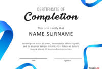 40 Fantastic Certificate Of Completion Templates [Word with regard to Attendance Certificate Template Word