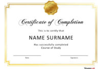40 Fantastic Certificate Of Completion Templates [Word within Free Printable Certificate Of Achievement Template