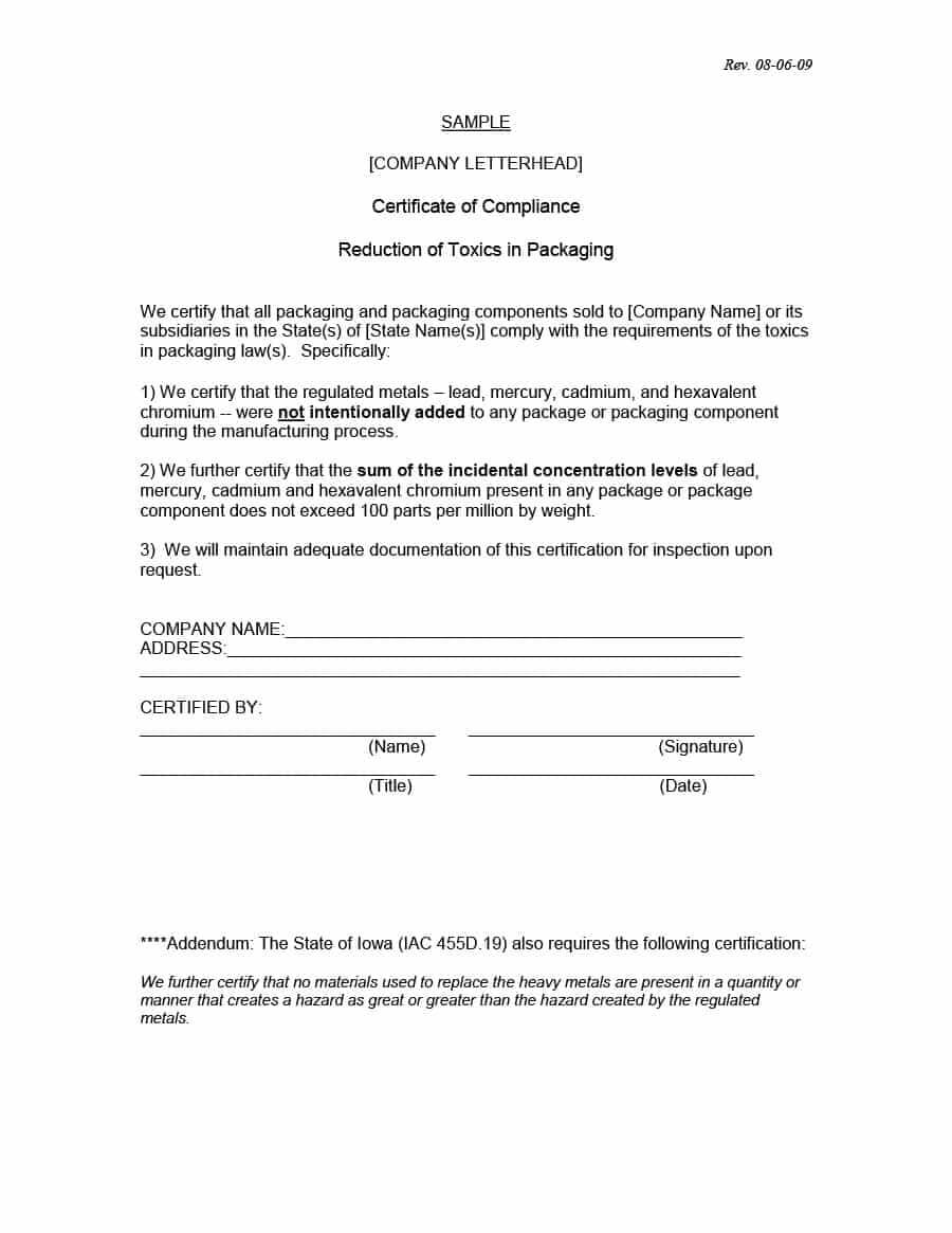 40 Free Certificate Of Conformance Templates & Forms ᐅ inside Certificate Of Conformity Template Free