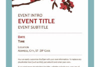 40+ Free Event Program Templates / Designs – Template Archive with Free Event Program Templates Word