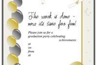 40+ Free Graduation Invitation Templates ᐅ Template Lab within Graduation Party Invitation Templates Free Word