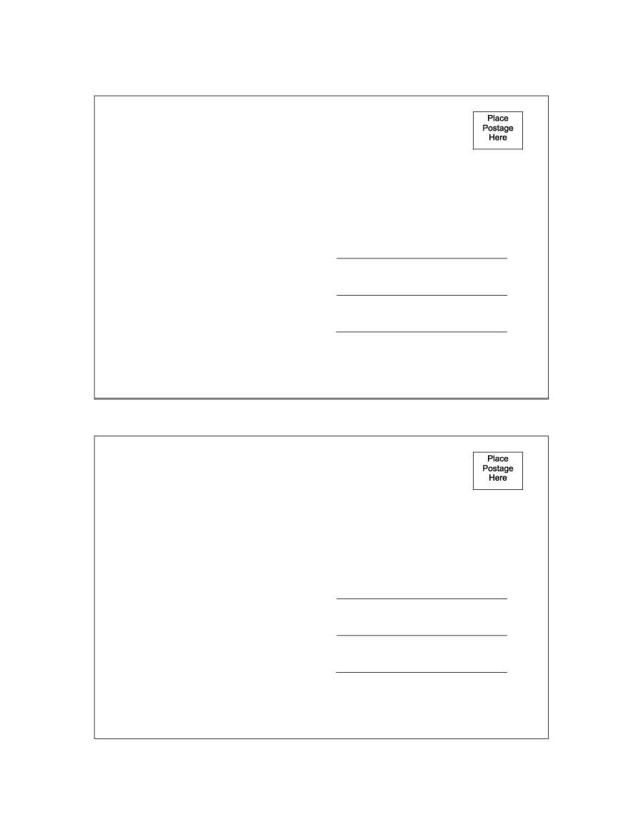 40+ Great Postcard Templates & Designs [Word + Pdf] ᐅ With Free Blank Postcard Template For Word