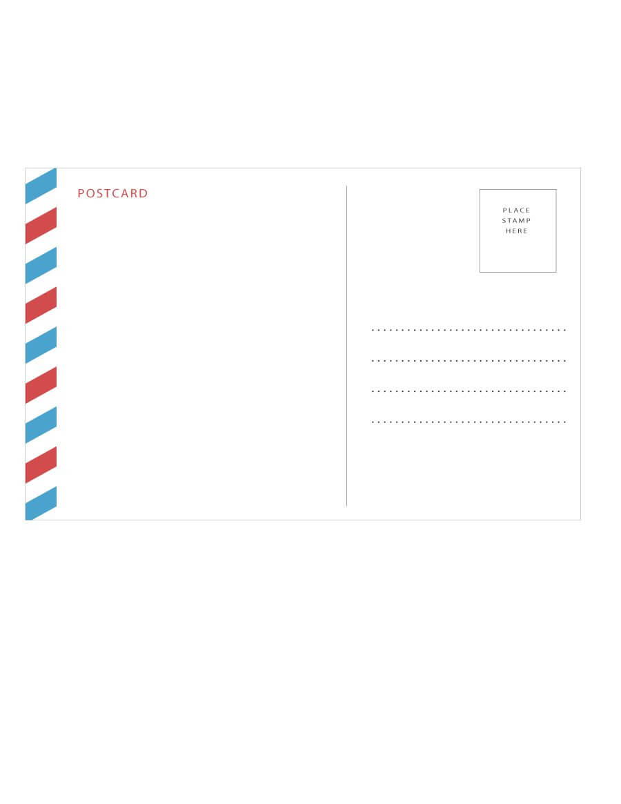 40+ Great Postcard Templates & Designs [Word + Pdf] ᐅ With Post Cards Template