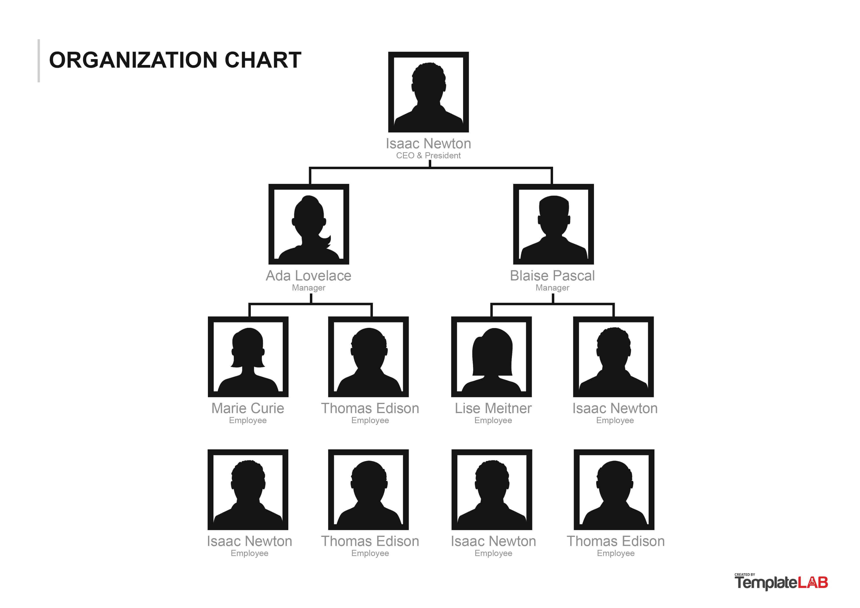 40 Organizational Chart Templates (Word, Excel, Powerpoint) with Org Chart Word Template
