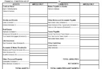 40+ Personal Financial Statement Templates & Forms ᐅ within Blank Personal Financial Statement Template