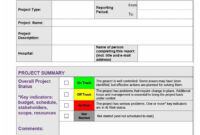 40+ Project Status Report Templates [Word, Excel, Ppt] ᐅ in Word Document Report Templates