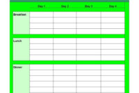 40+ Weekly Meal Planning Templates ᐅ Template Lab for Meal Plan Template Word