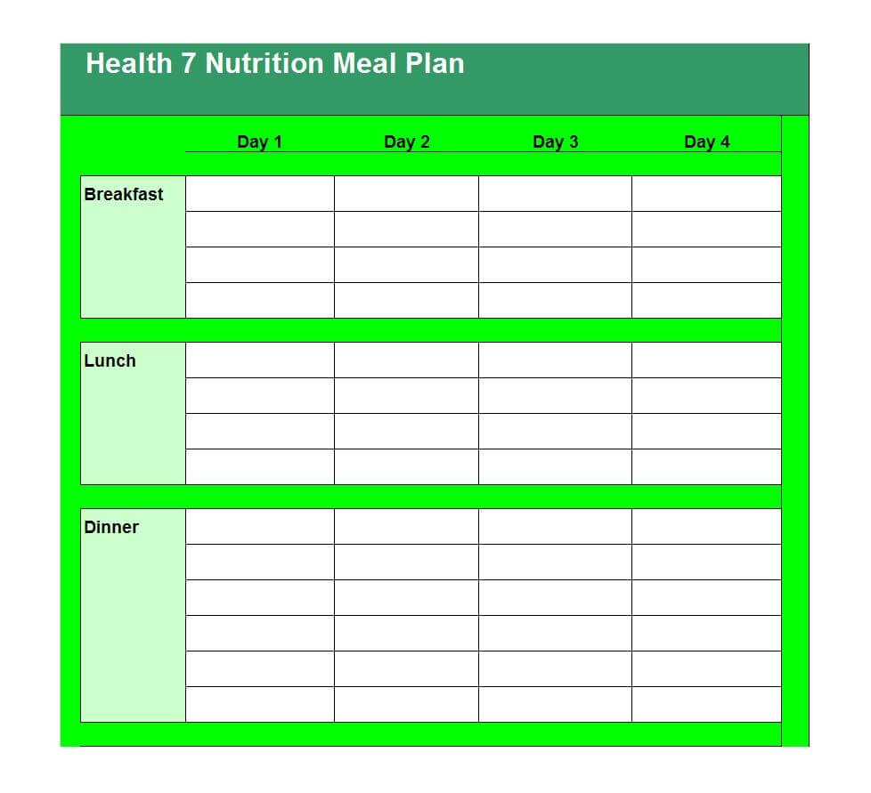 40+ Weekly Meal Planning Templates ᐅ Template Lab inside Menu Planning Template Word