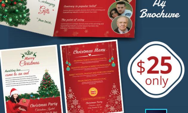 41+ Christmas Brochures Templates - Psd, Word, Publisher throughout Christmas Brochure Templates Free