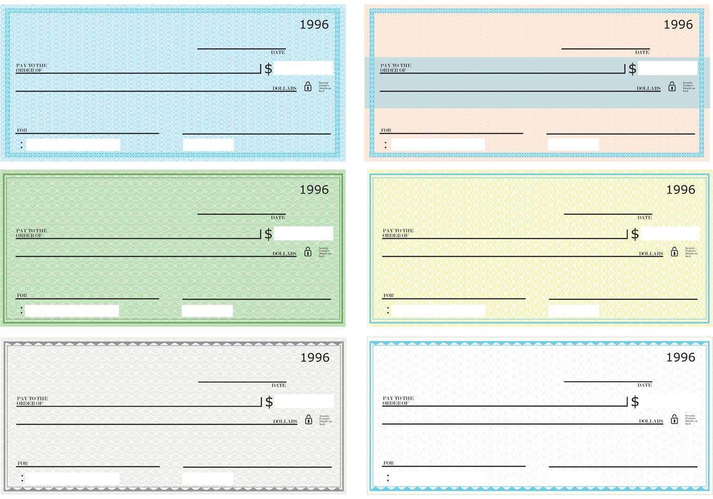 43+ Fake Blank Check Templates Fillable Doc, Psd, Pdf!! within Customizable Blank Check Template