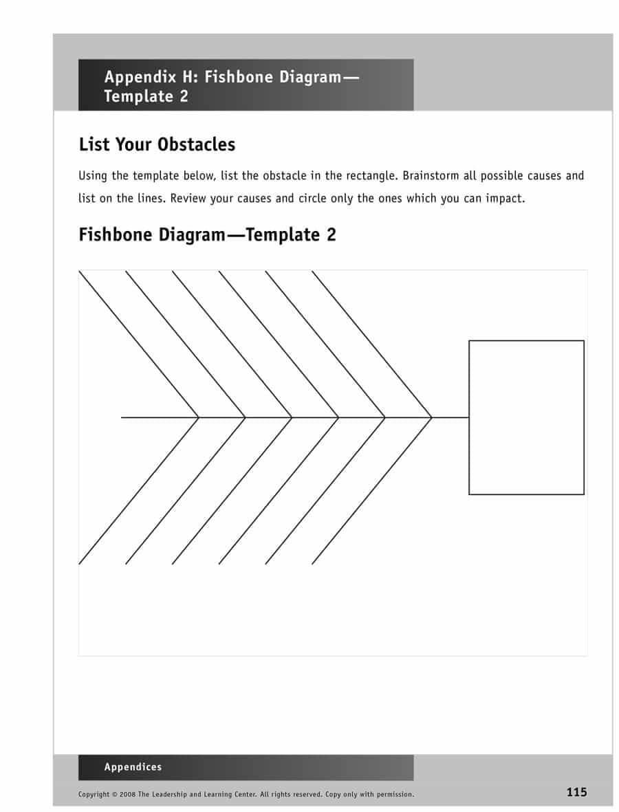 43 Great Fishbone Diagram Templates & Examples [Word, Excel] regarding Blank Fishbone Diagram Template Word