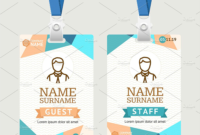 43+ Professional Id Card Designs – Psd, Eps, Ai, Word   Free in Id Badge Template Word