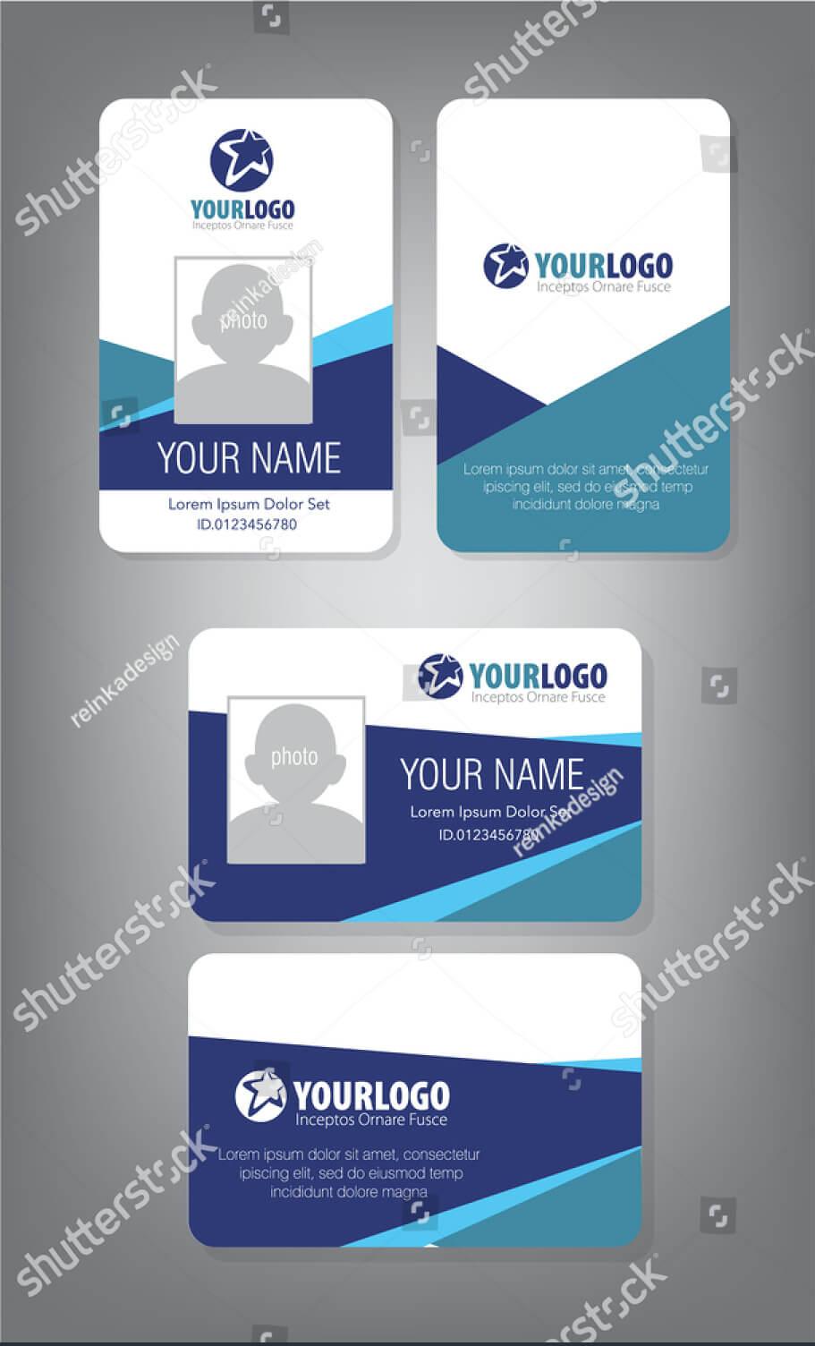 43+ Professional Id Card Designs - Psd, Eps, Ai, Word | Free regarding Employee Card Template Word