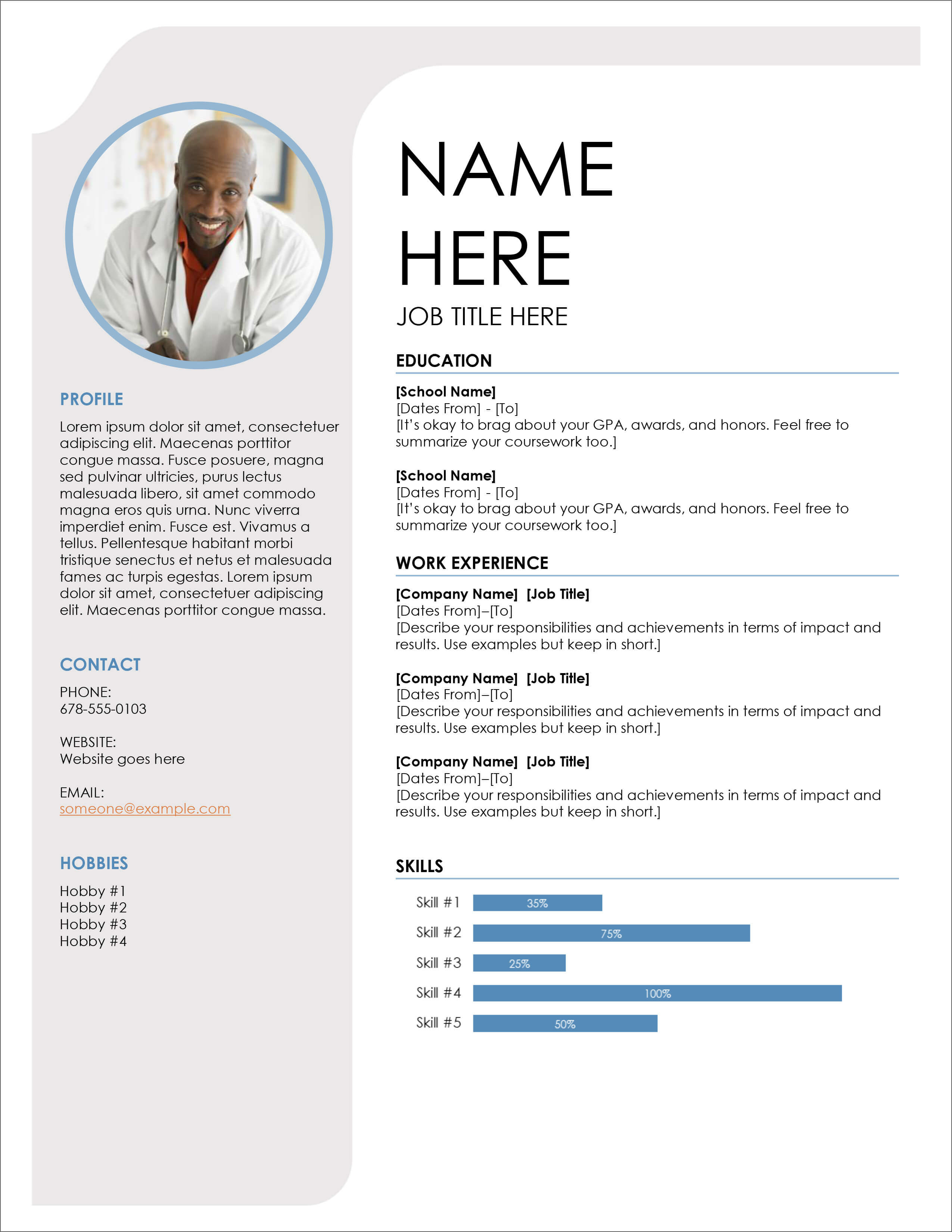 45 Free Modern Resume / Cv Templates – Minimalist, Simple Inside Free Downloadable Resume Templates For Word