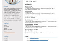 45 Free Modern Resume / Cv Templates – Minimalist, Simple pertaining to Free Resume Template Microsoft Word