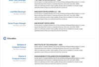 45 Free Modern Resume / Cv Templates – Minimalist, Simple Regarding Free Downloadable Resume Templates For Word