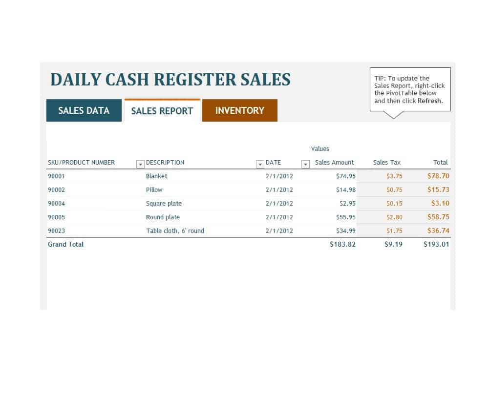 45 Sales Report Templates [Daily, Weekly, Monthly Salesman in Daily Sales Report Template Excel Free