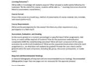 47 Editable Syllabus Templates (Course Syllabus) ᐅ Template Lab regarding Blank Syllabus Template