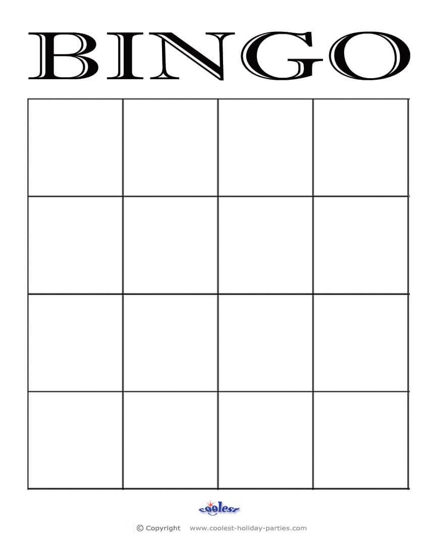 4X4 Blank Bingo Card Template | Bingo Template, Blank Bingo For Bingo Card Template Word