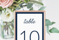 4X6 Navy Wedding Table Number Cards Templates Instant Download, Bridal  Shower, Editable Navy Table Numbers Place Cards Templates – Idb012K intended for Table Number Cards Template