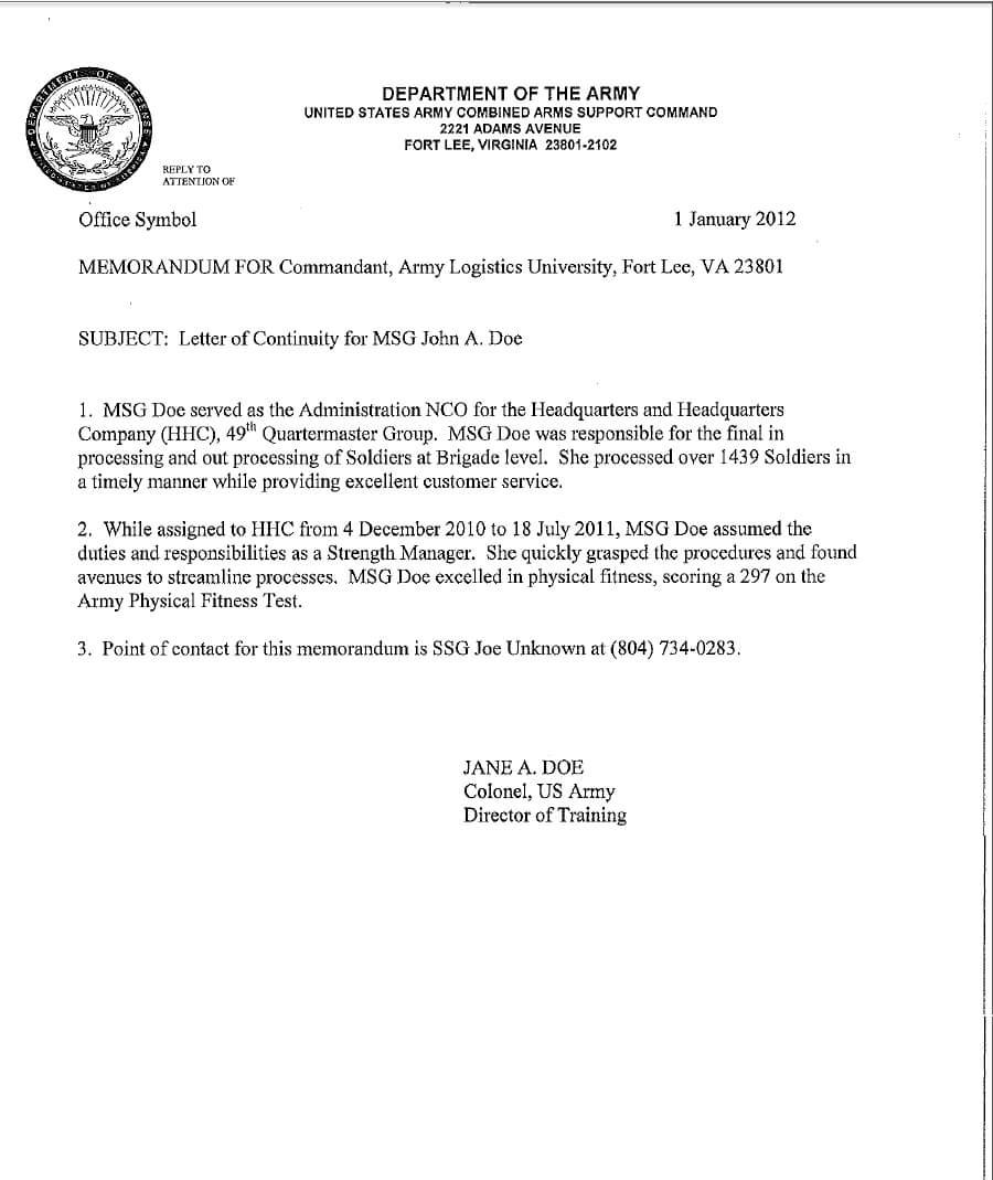 5+ Army Memorandum Templates - Word Excel Templates In Army Memorandum Template Word