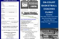 5 Best Images Of Basketball Camp Brochure - Basketball Camp regarding Basketball Camp Brochure Template