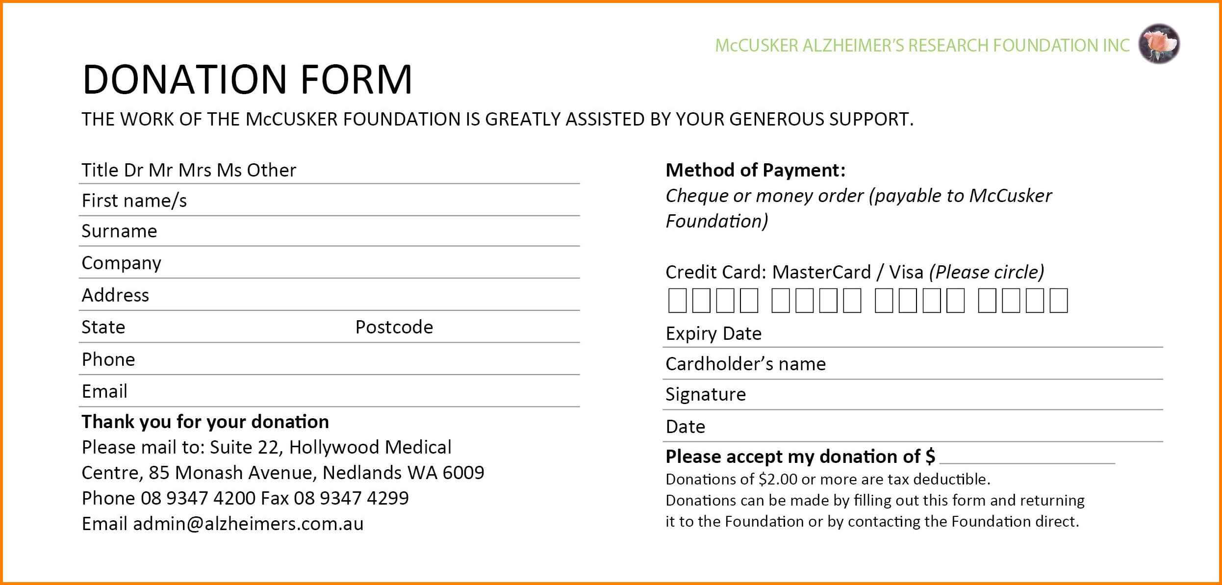 5+ Donation Card Template | Instinctual Intelligence Regarding Donation Cards Template