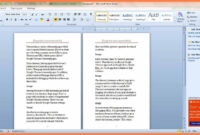 5+ Free Booklet Templates For Word   Andrew Gunsberg inside Booklet Template Microsoft Word 2007