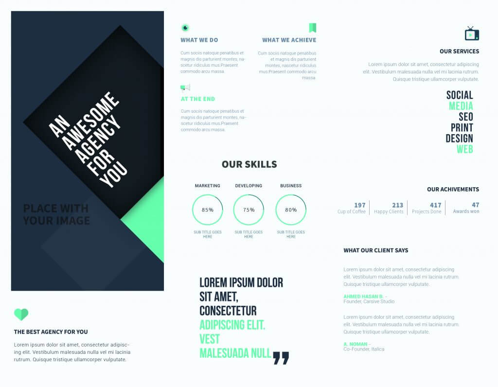 5 Free Online Brochure Templates To Create Your Own Brochure   Pertaining To Online Brochure Template Free