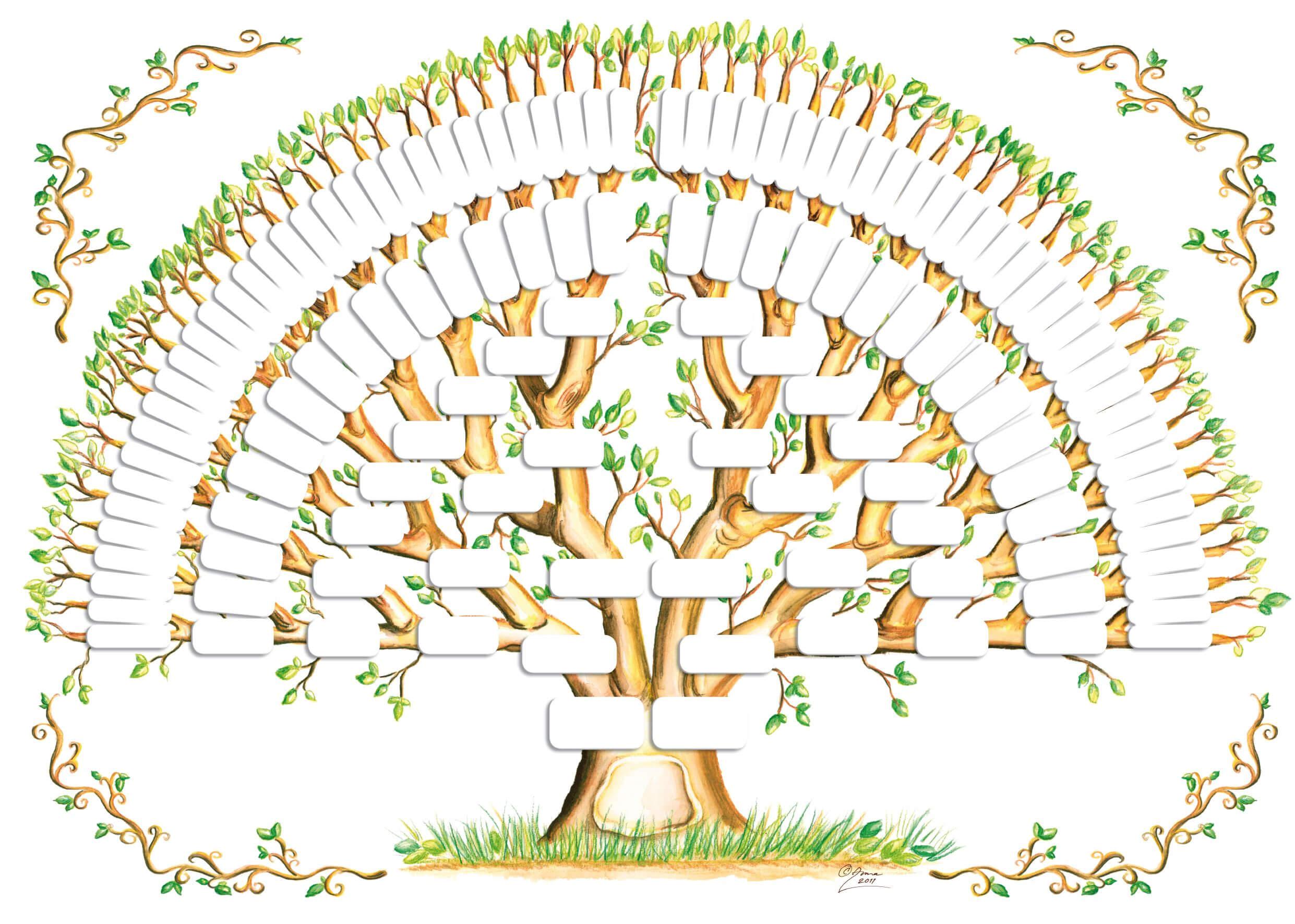 5 Generation Family Tree Template Tree Gallery | Genealogy regarding Blank Family Tree Template 3 Generations