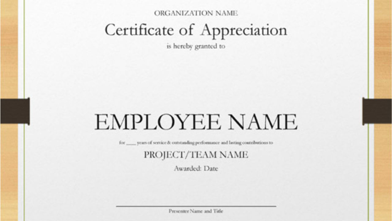 5+ Printable Years Of Service Certificate Templates – Word With Regard To Certificate For Years Of Service Template