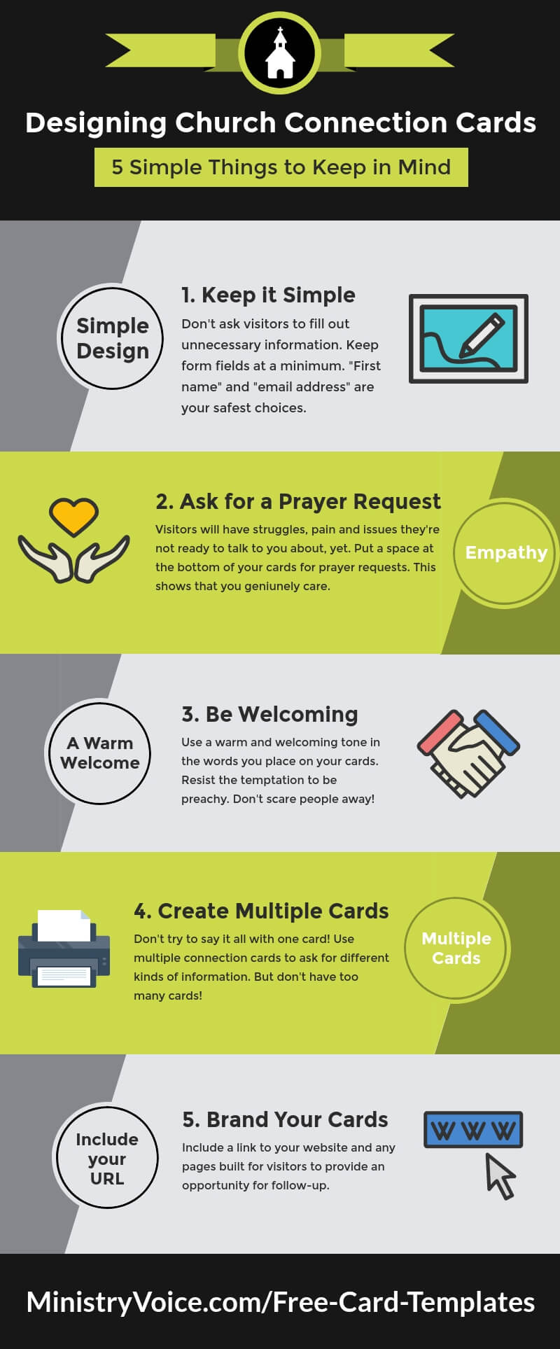 5 Simple Things To Keep In Mind When Designing Church for Church Visitor Card Template
