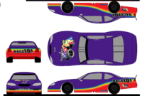 5 Steps To Create A Paint Scheme Mockup | The Colors Of The Race regarding Blank Race Car Templates