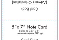 "5"" X 7"" Note Card Template – U.s. Press intended for 3 By 5 Index Card Template"