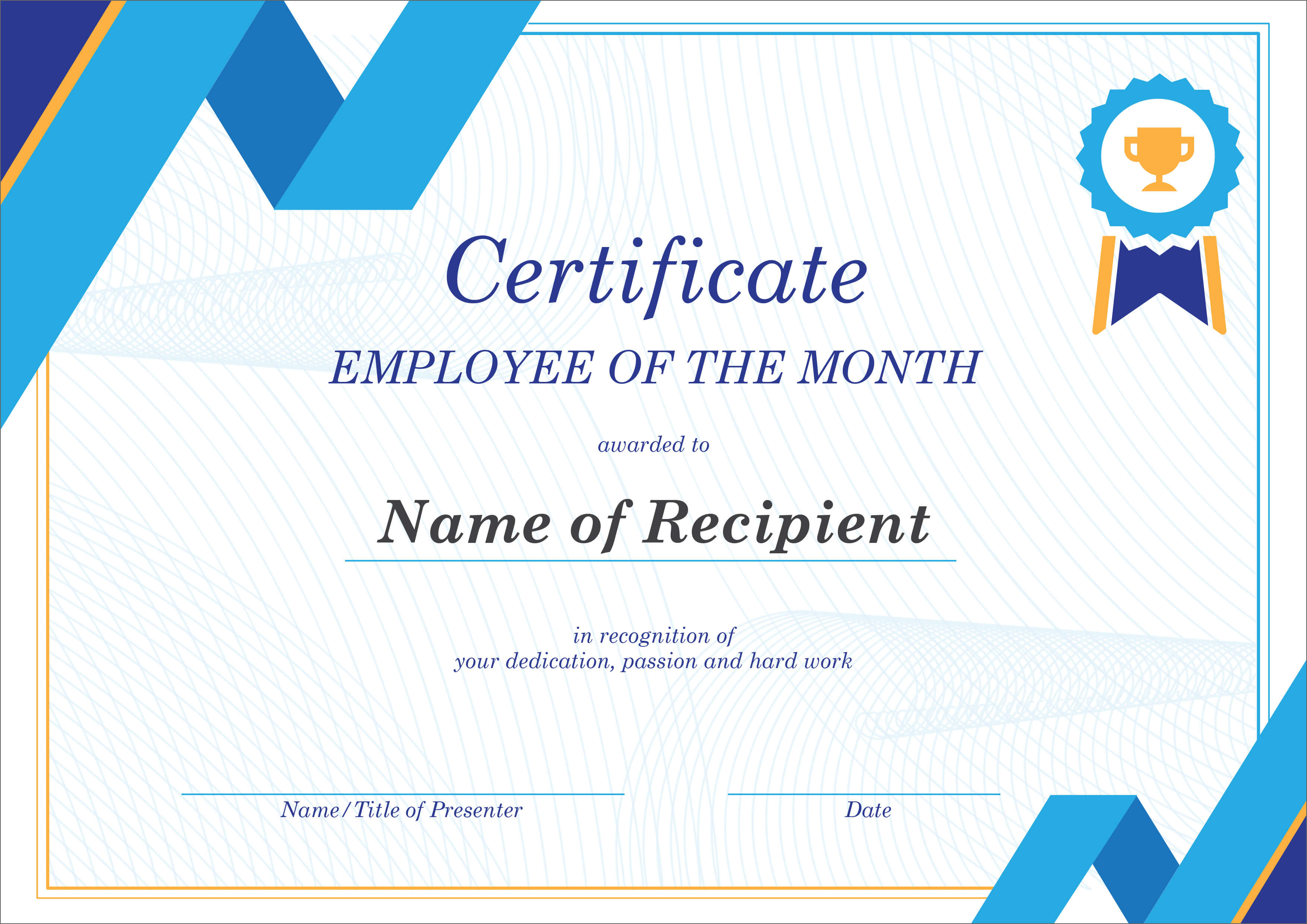 50 Creative Blank Certificate Templates In Psd Photoshop for Manager Of The Month Certificate Template