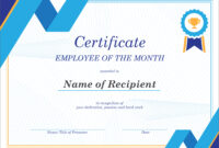 50 Creative Blank Certificate Templates In Psd Photoshop within Employee Of The Month Certificate Templates