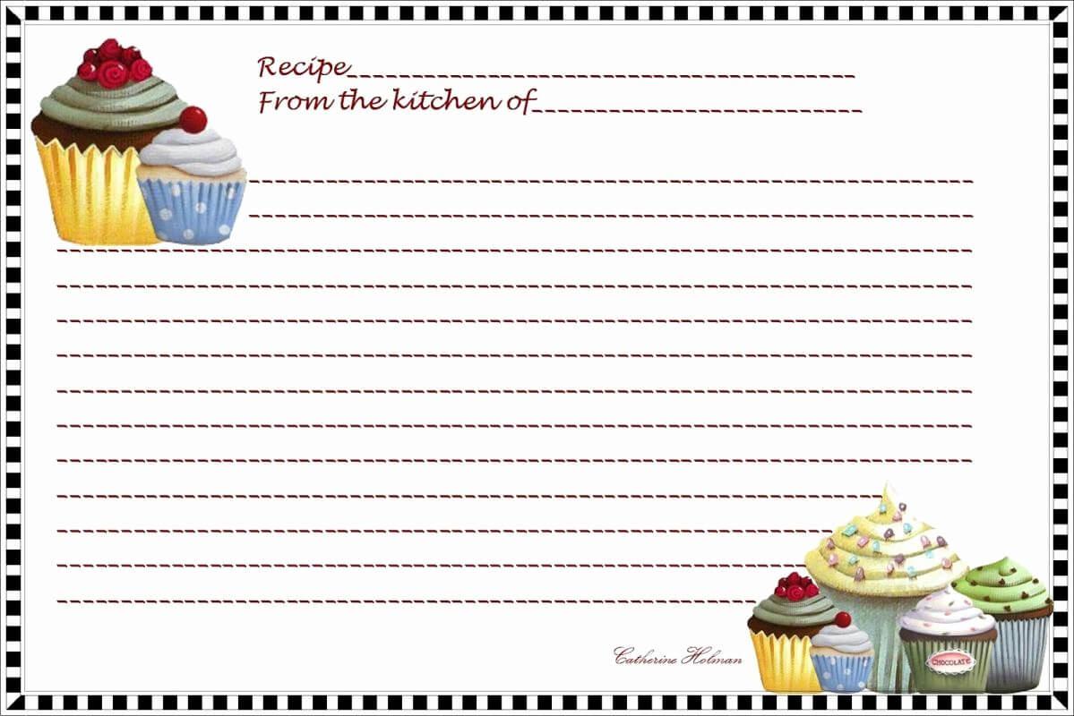 50 Fillable Recipe Card Template | Culturatti inside Fillable Recipe Card Template