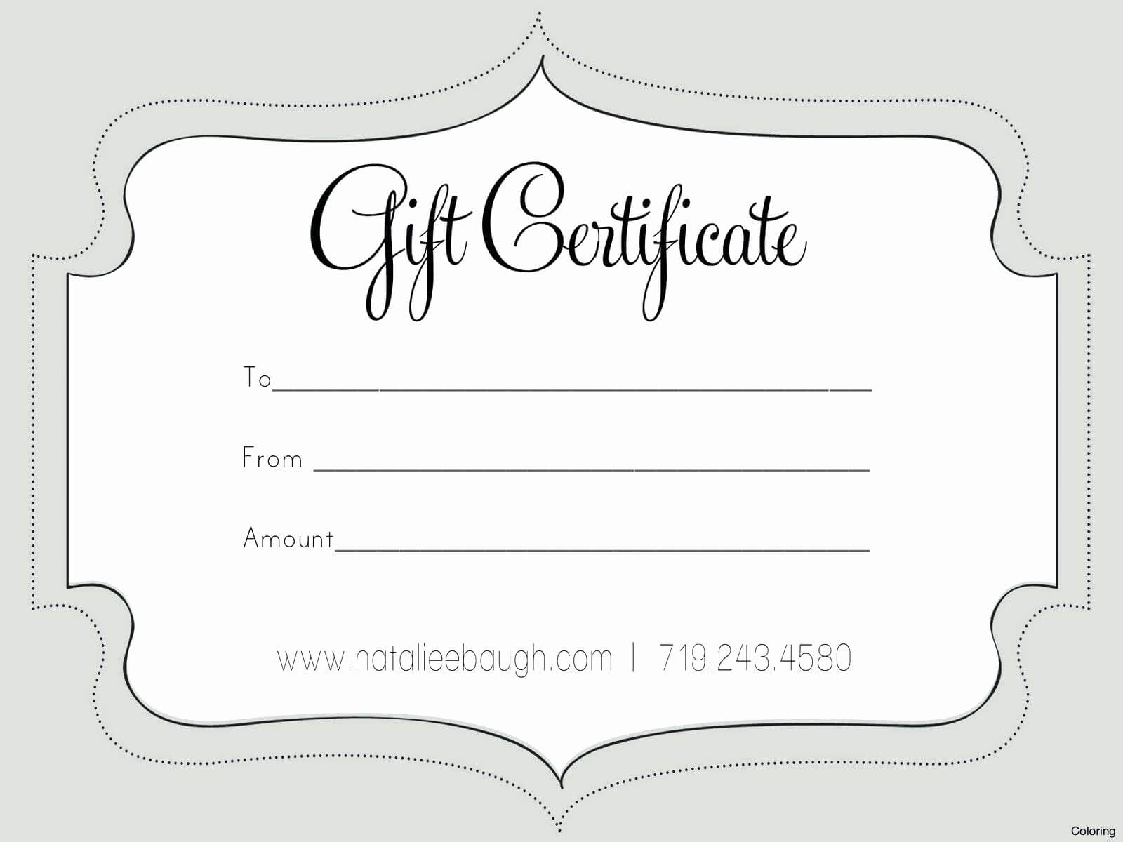 50 Free Gift Card Templates   Culturatti Regarding Nail Gift Certificate Template Free