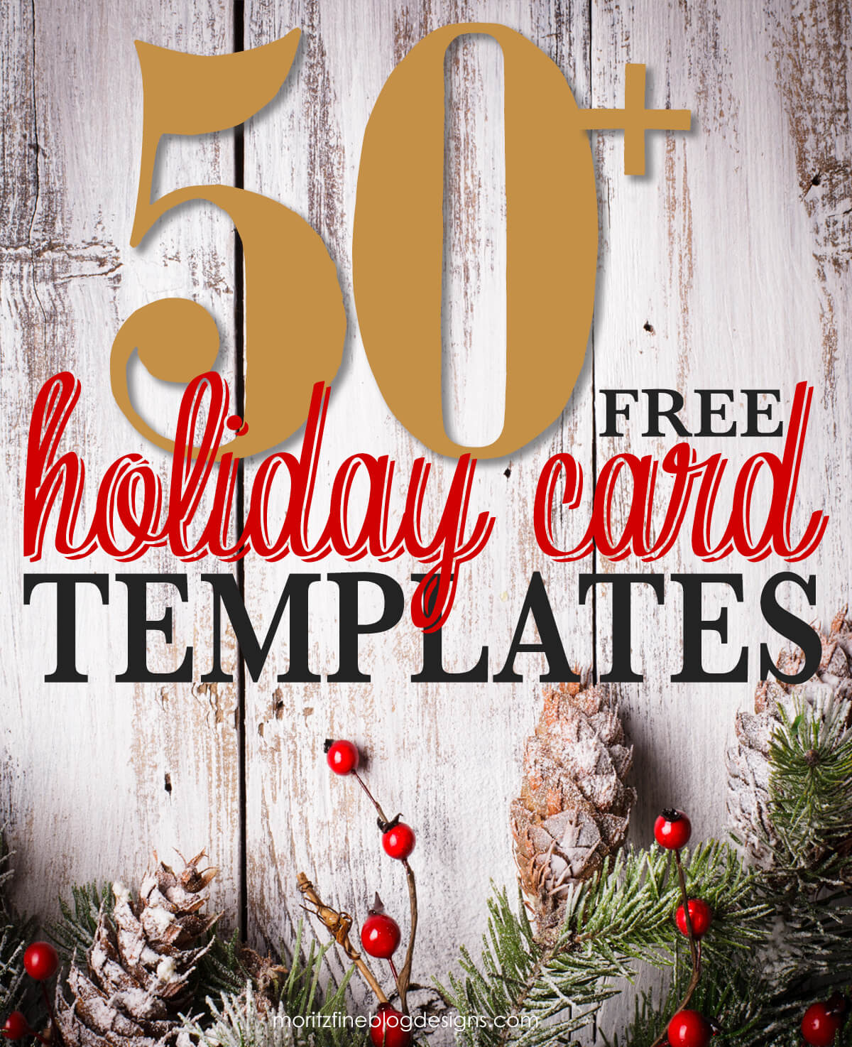 50 + Free Holiday Photo Card Templates | Moritz Fine Designs Within Free Holiday Photo Card Templates