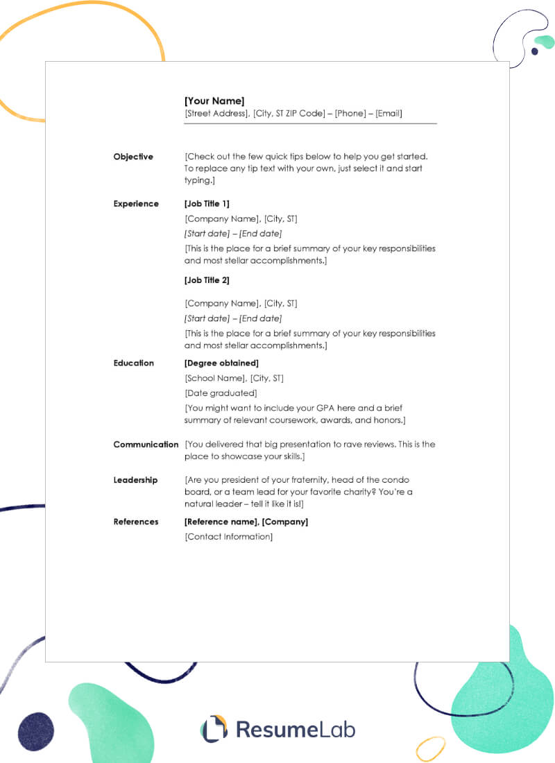 50+ Free Resume Templates For Word: Modern, Creative & More pertaining to Blank Resume Templates For Microsoft Word